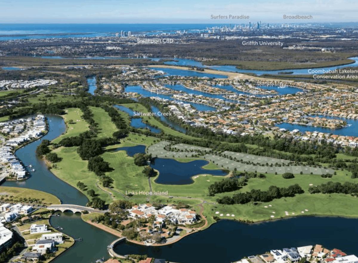 Golfing Homes Links Hope Island land for sale