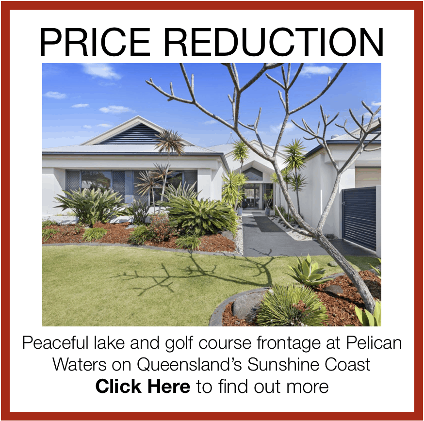 Golfing Homes Pelican Waters Golf Course Sunshine Coast Queensland home for sale price reduction