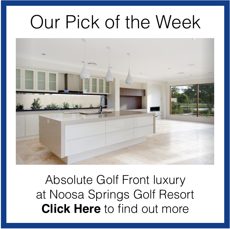 Golfing Homes Pick of the Week golf frontage at Noosa Springs Golf Resort for sale